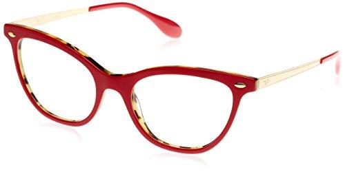 Rayban Damen Brillengestell RX5360 Rot (Top Bordeaux On Havana Green) 52