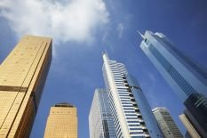 citic-plaza-and-skyscrapers-30-x-20in-canvas-print-framed-and-ready-to-hang