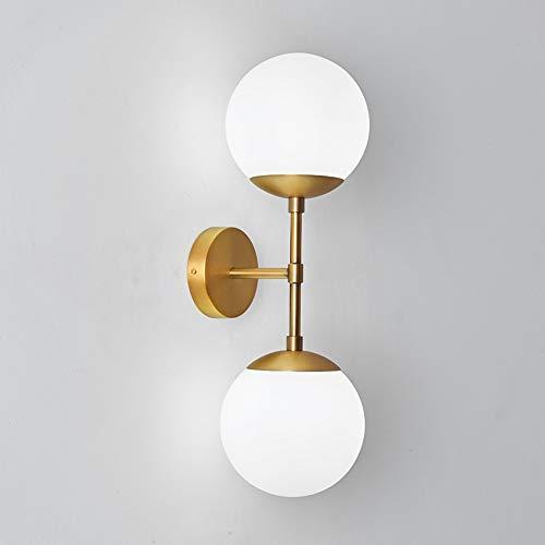 BuyBuyBuy Nordic Einfache Glaskugel Wandleuchte Wohnzimmer Esszimmer Studie Gang Lampe Moderne Schlafzimmer Nacht Eisen Kunsthandwerk Halterung Licht Bronze Entdecke das Licht -