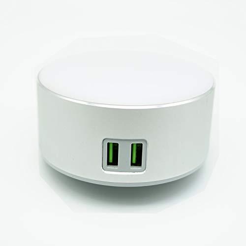 Intelligente LED-Nachttischlampe/Nachtlicht, Dimmbares Licht, Berührungsschalter, 2 USB-Ladeanschluss