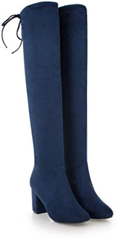 CXQ-Stivali Stivaletti da Donna con Tacco a Punta e Tacco Tacco Tacco Basso | Sconto  d6c55b