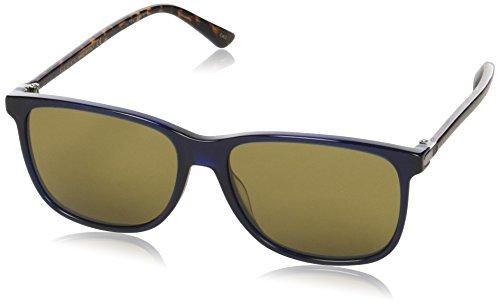 Gucci Herren GG0017S 005 Sonnenbrille, Blau (Bluee/Brown), 57
