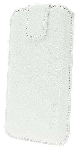 """Suncase original étui ® poches pour iPhone 6/6s (4,7 """") avec fonction push out *étui en cuir blanc"""