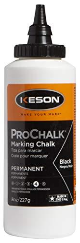 alk Permanent Marking Chalk - Level 4, Black, 8-Ounce (12-Pack) ()