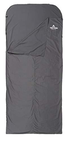 Teton Sports Schlafsack Liner; inklusive Stuff Sack, schwarz -