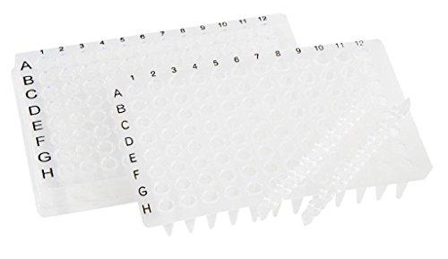 neoLab 7-5201 96well PCR-Platte, Vollrand, Niederprofil, Klar (50-er Pack)