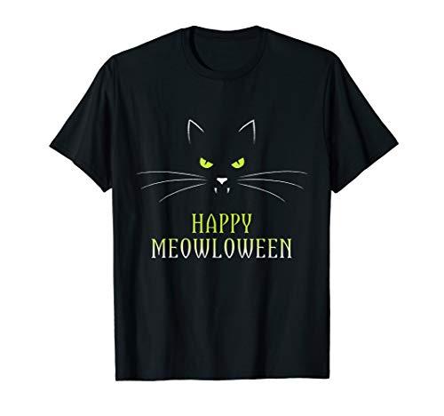 er Halloween Meowloween Kitty Kostüm T-Shirt ()