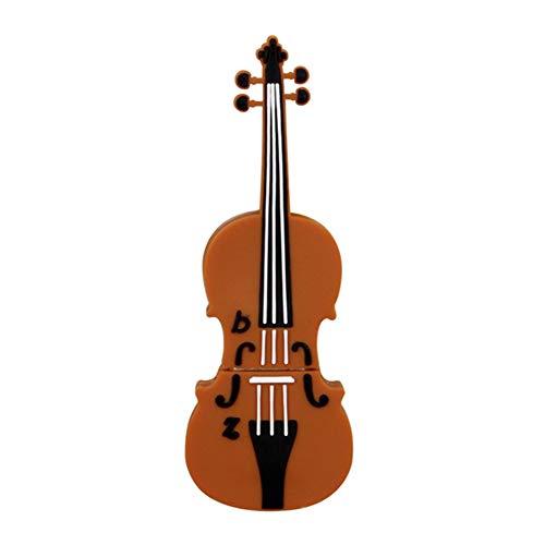 Kentop - chiavetta usb 2.0 flash drive, a forma di violino, pvc, 16gb, 16gb
