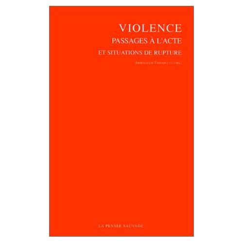 Violence, passages à l'acte et situation de rupture