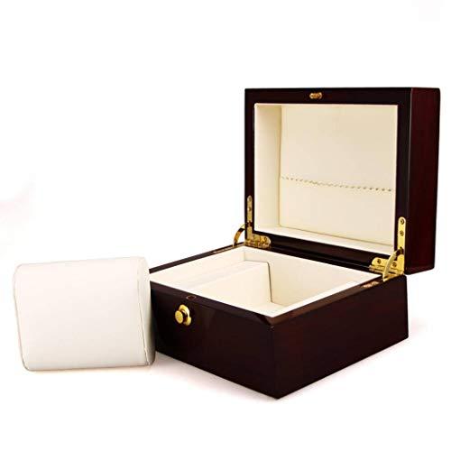 Holz Uhrenbox Leder für Schmuck Brillenbox, für Herren Damen Uhren ()