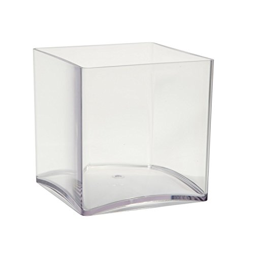 2-x-10cm-Clear-Acrylic-Cube-Vases-Lightweight-Durable-Plastic-Small-Container-4-Weddings-Special-Occasions-Decoration-Parties