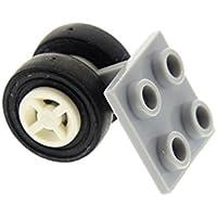 LEGO Bau- & Konstruktionsspielzeug 1 x Lego Rad Achse neu-hell grau 2x2 Halter Räder weiss Flugzeug 4624 4870c02