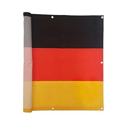 Balkonbespannung Sichtschutz 500 x 90 cm - Deutschlandfahne Motiv - wasserabweisend - JAROLIFT