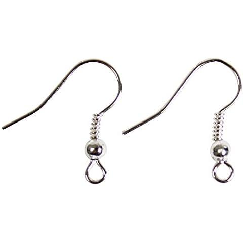 Pacco da 500 ganci per orecchini placcati argento senza nichel minuterie per creare gioielli di Curtzy TM