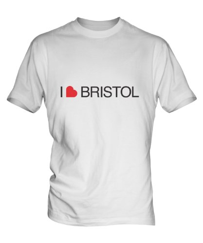 I Love Bristol Mens White T-Shirt Top