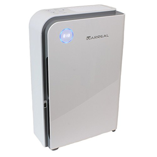 HEPA Luftreiniger bis 60m², ultraleise, mit Feinstaubsensor, Partikelanzeige, Nachtmodus und 6 Stufen Reinigung