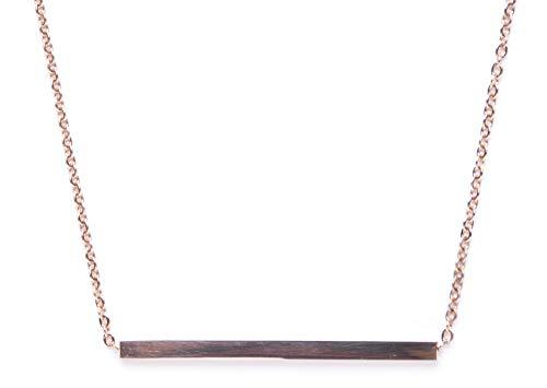 Happiness Boutique Damen Titan Trapez Bar Halskette in Rosegold (Titan Halsketten Prime)