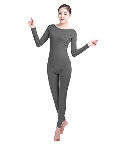 (NiSeng Erwachsener und Kind Zentai Ganzkörperanzug Kostüm Ganzkörperanzug Fasching Bodysuit Kostüm Dunkelgrau 3XL)