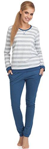 Cornette Damen Schlafanzug Molly (Jeans, M)