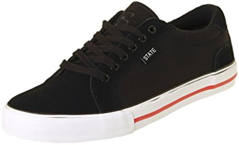 Zapatos State Hudson Negro-Blanco-Rojo Ante  En línea Obtenga la mejor oferta barata de descuento más grande