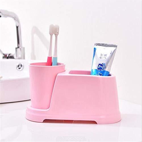 WPQMGL Badzubehör Kunststoff Zahnbürstenhalter Zahnpastahalter Stand Zahnpastaspeicher Rack Rasierer Zahnbürste