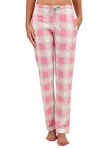 Di Ficchiano DF-33, Damen Pyjamahose karo.pink, Gr. M - Pink Schwarz Karo