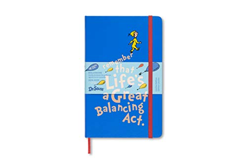 Moleskine 8058647628998 Studienplaner - 18 Monate Wochen Notizkalender 2019/2020, Dr. Seuss Pocket/A6, Hard Cover Blau