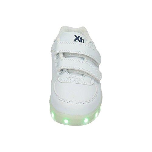 XTI - Zapato Niño. C. Blanco-verde ., Scarpe da ginnastica Bambino Bianco
