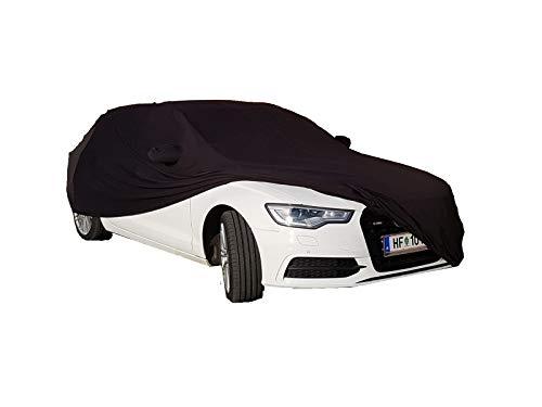 LEDmich Super-Soft Indoor Car Cover Auto Schutz Hülle für Audi A6 S6 RS6 Avant Abdeckung Stoff schwarz inkl. Spiegeltaschen Abdeckung Abdeckplane