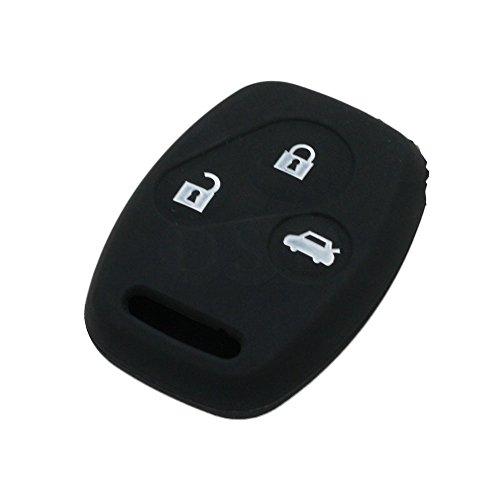 fassport Silikon Cover Haut Jacke Fit für Honda 3Tasten Fernbedienung Schlüssel cv9201