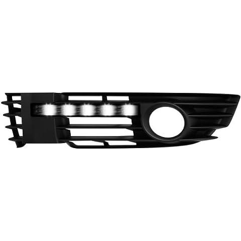 Dectane MODV03FS Modulite - Luces diurnas para VW Passat 3BG (modelos de 2000 a 2005) con luces antiniebla, color gris oscuro