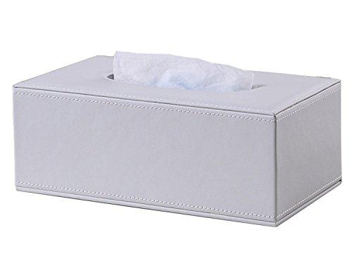 KINGFOM™ Rechteckige Kosmetiktücherbox für Zuhause/Büro/Auto (Weiß)