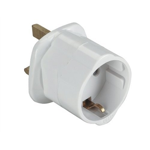 Eagle Weiß 13A UK Besucher Travel Adapter konvertiert europäischen Schuko auf Standard UK 13a Stecker. Bulk weiß (Travel Adapter Konvertiert)