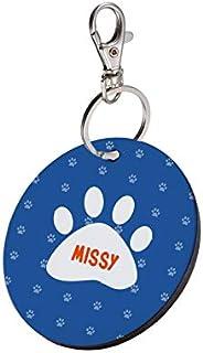 Sky Trends Round Shape Collar Locket/Pendant for Dogs & Puppy -867, Multicolour, Medium, 1 Count - M