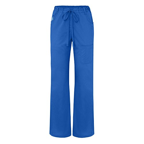 Adar Indulgence Womens Jr Fit Mid Rise Straight Leg Multi Seam Scrub Pants - 4102 - Royal Blue - XL (Royal Blue Scrub Hose)
