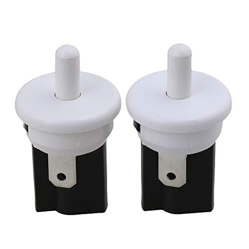 RDEXP Kunststoffschlauch, 2-polig, 250 V, Wechselstrom, 3 A, SPST, NC, für Kühlschrank, Tür, 2 Stück -
