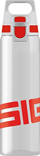 SIGG Total Clear ONE Red, Sport Trinkflasche, 0.75 L, Tritan, BPA frei, Rot