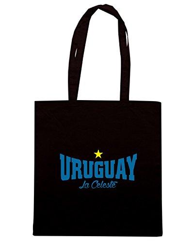 T-Shirtshock - Borsa Shopping T0729 uruguay la celeste calcio ultras Nero