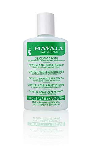 Mavala Crystal Quitaesmalte de Uñas sin Acetona Elimina el esmalte de Uñas de Forma Rápida y Eficaz Quitaesmalte Ecológico Sin Olor, 100 ml