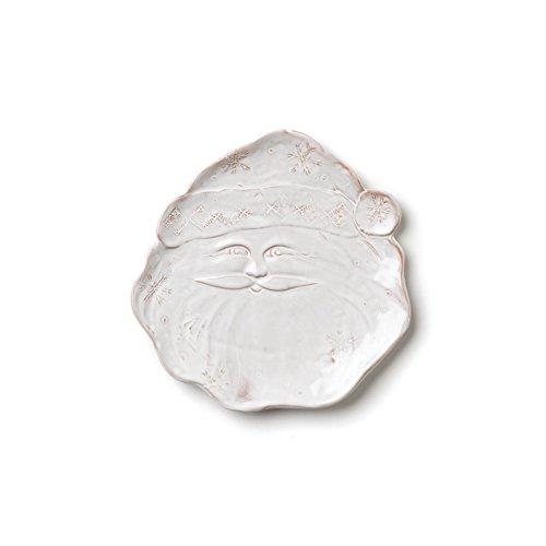 Vietri Bellezza Holiday Santa Cookie Plate - 8.25W. by VIETRI (Vietri Santa)