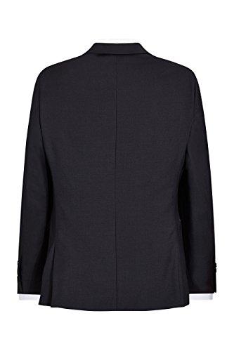 next Costume en laine italienne peau de requin:veste Coupe Slim Homme Bleu