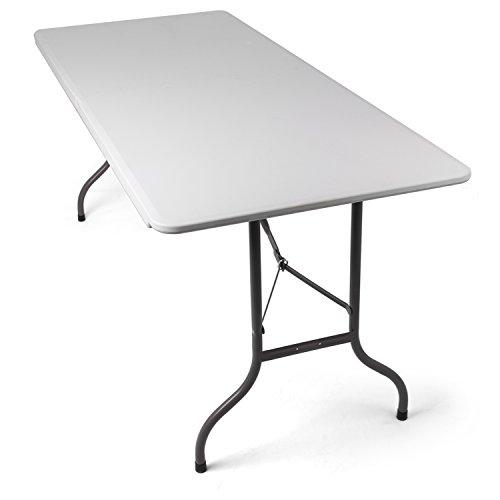 Tavolo Da Campeggio Richiudibile.Tavolo Pieghevole Da Giardino Bianco Perfetto Come Tavolo Da