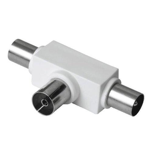Hama Antennen-Verteiler Koax-Kupplung - 2 Koax-Stecker Antenne Signal Splitter