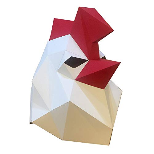 ZYWX DIY Hühner Tier Papier Schimmel DIY Material Party Masquerade, Dekoration, Dekoration, Schatten, Weihnachts-/Halloween-Maske