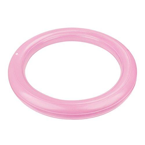 Trideer Ballschale/Anti-Burst Aufblasbaren Ring mit Pumpe Set Kit für Gymnastikball von 65 bis 85cm Durchmesser (Nur Ring) (Rosa)