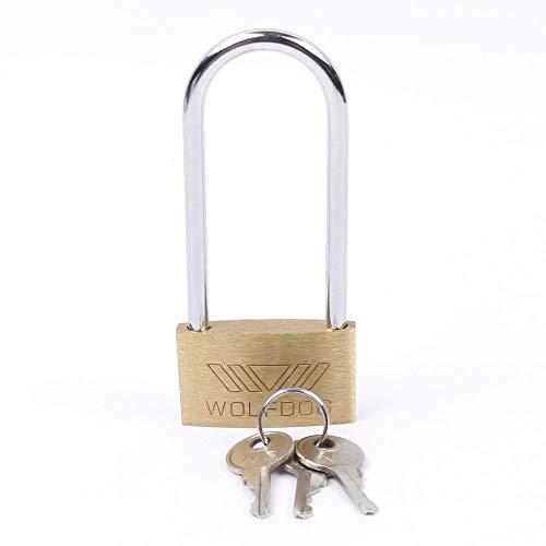 SAOJI Neue Messing Vorhängeschloss Lange Schäkel Reisegepäck/Koffer/Gate Lock Sicherheit 3   Schlüssel langlebig ca. 20x30,5x7mm ausgezeichnete Qualität -