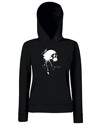T-Shirtshock - Sweats a capuche Femme FUN0257 11 01 2013 Love Day of Dead T SHIRT det Noir
