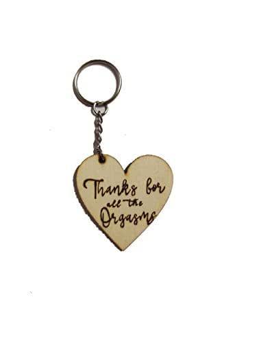regalo san valentino divertente portachiavi per lui per lei legno pirografato a mano