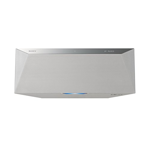 Sony CMT-BT80W Micro-HiFi System (40 Watt, CD-Player, FM/AM, Bluetooth, NFC, DLNA, Airplay, USB) weiß