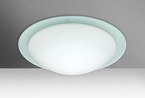 Besa Lighting 977125C 2X60W A19 Ring 15 Ceiling Flush Mount with White/Frost Glass by Besa - Besa Mount